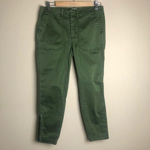 J. Crew Army green Jeans/ cargo pants zipper 29P